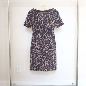 Elie Tahari Leopard Print Fitted Dress